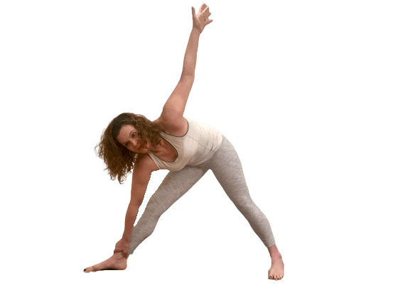 barrie risman showing incorrect triangle yoga pose