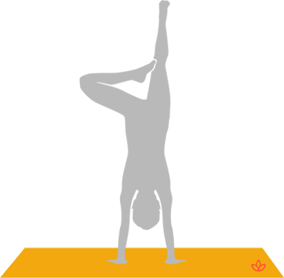 Tree Pose in Handstand