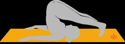 Halasana plow pose yoga