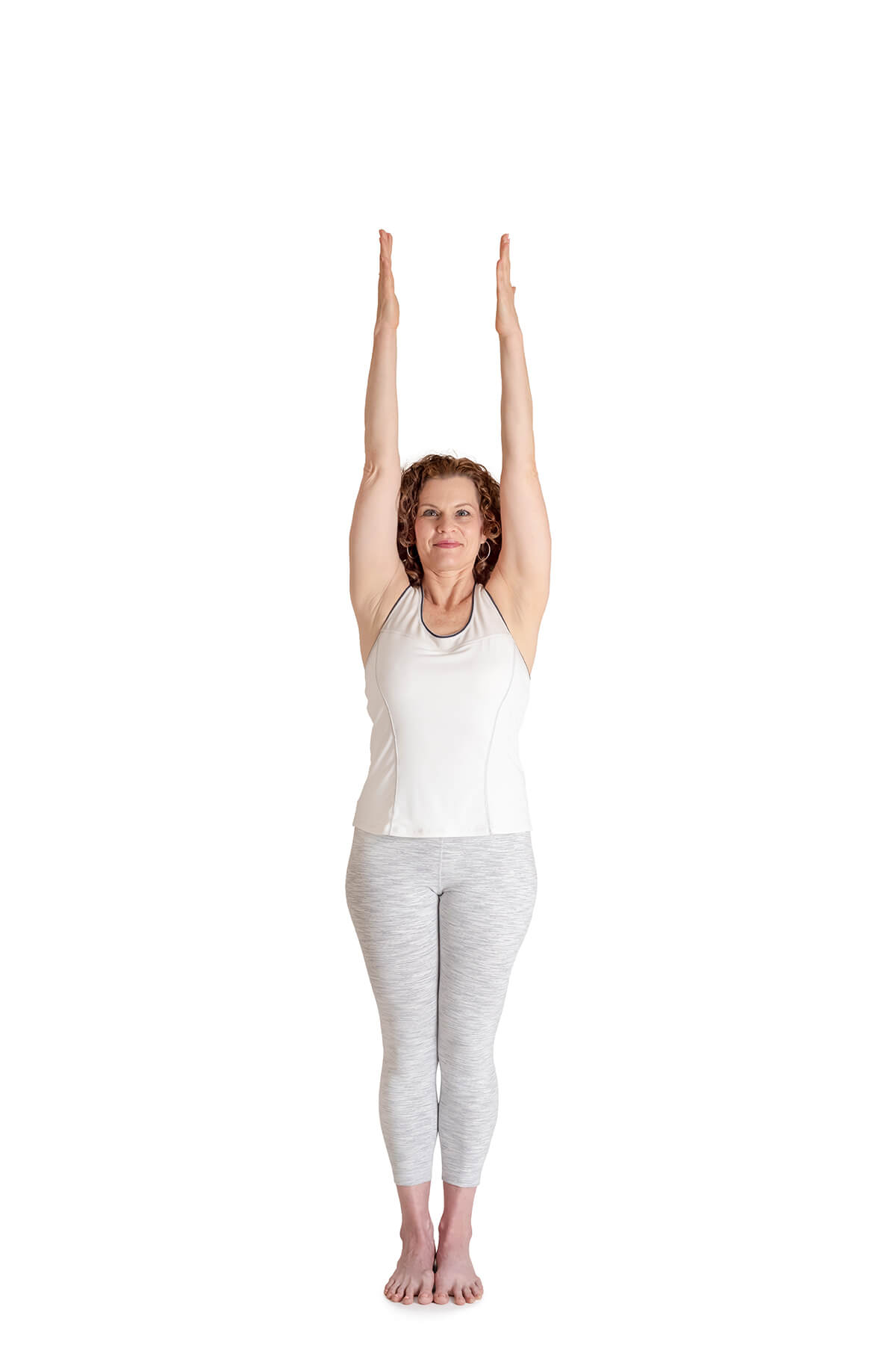 arm sweep arms up yoga exercise