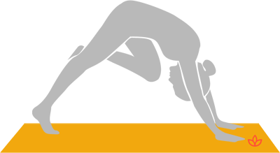 Downward-Facing Dog With Knee to Forehead
