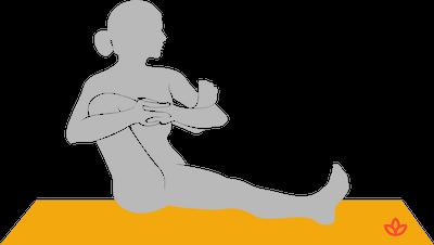 leg cradle pose