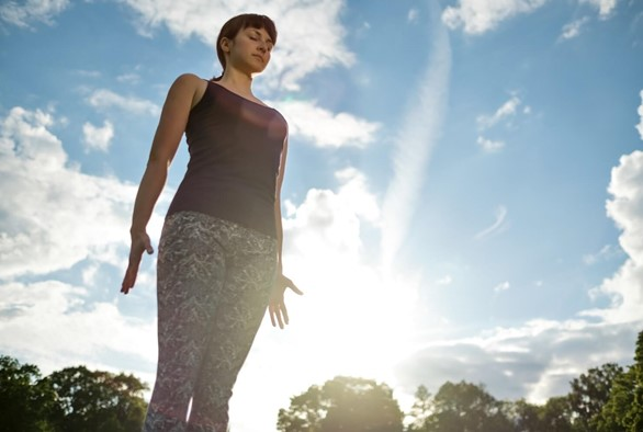 Ground Into Tadasana to Connect With Your Root Chakra