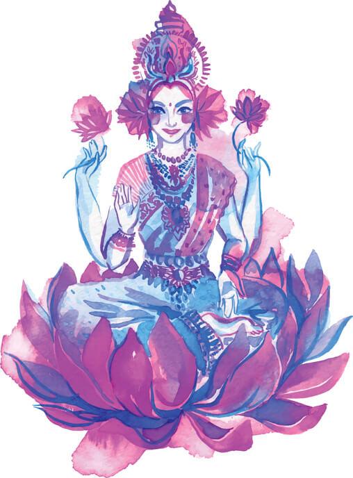 illustration of goddess Lakshmi