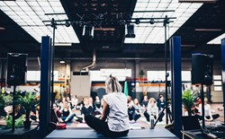 How do you overcome performance anxiety when you first start teaching yoga?