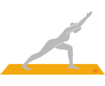 Warrior One Forward Bend
